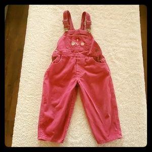 Oshkosh pink overalls